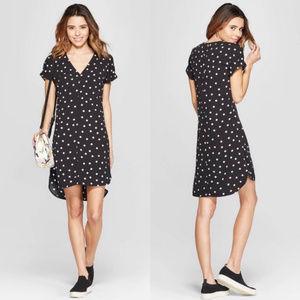 A New Day V-Neck Polka Dot Shirt Dress